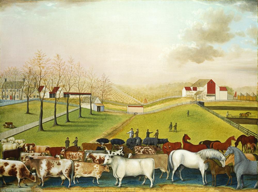 """The Cornell Farm"" (oil on canvas) by Edward Hicks (1848)."